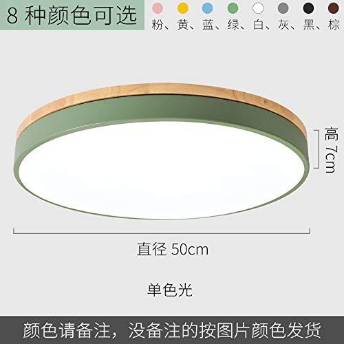 Dormitorio creativo redondo lámpara de sala de estudio de hierro forjado personalidad luz 50 cm luz cálida blanca