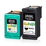 Gohepi Remanufactured HP 350XL 351XL Cartucce d'inchiostro (1 Nero,1 Tricromia) per HP Officejet J5730 J5780,HP Photosmart C4280 C4380 C5280 C4480 C4580 D5360 C4599,HP Deskjet D4260 D4360 D4263 D4363
