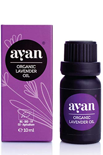 Bio-lavendel-bad (Pures Bio Lavendelöl hochkonzentriert ✔ Ätherisches Aroma Körper- und Duftöl ✔ AYAN Organic Naturkosmetik ✔ Diffusor Raumduft 10ml)