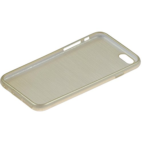 Coque en Silicone pour Apple iPhone 6s / 6 - brushed argenté - Cover PhoneNatic Cubierta or