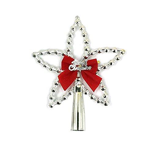 Christmas Tree Top-Stars führte Stern Christmas Ornament Bär Geschenk-Karte , silver
