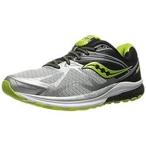 Saucony Ride 9, Zapatillas de Running para Hombre, (Plata/Gris / Negro/Limón Amarillo), 43 EU
