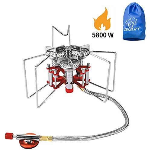 Bulin 5800W Gaskocher Faltbarer Gas Campingkocher Gasbrenner für Camping Trekking Picknick Outdoor