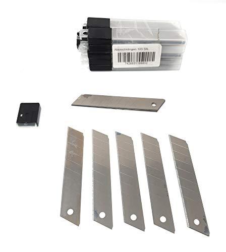 DWT-Germany 100718 200 Stück Abbrechklingen 18mm brei 0,5mm stark Cutterklingen Cuttermesser Cutter Klingen Messer Ersatzklingen im Spender