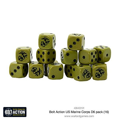 Warlord Games Bolt Action US Marine Corps W6 D6 Dice Pack (16) -