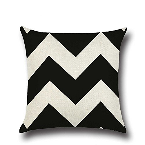 Dezene elegante lino fodere per cuscini–set di 4–morbido e raffinato copridivano square pillow-cases, 45,7x 45,7cm, brown