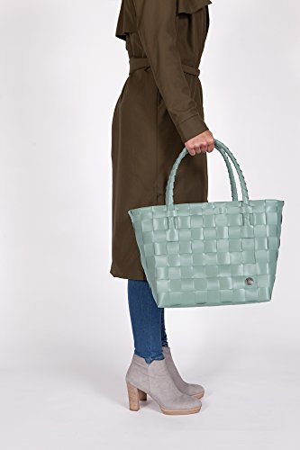 Handed By hand gevlochten Paris shopper Tasche Mehrfarbig (Gray/Green)
