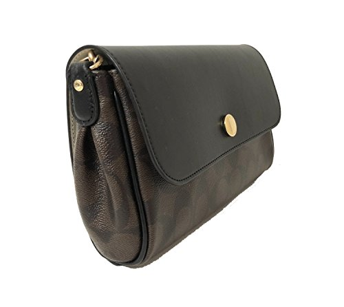 Coach Women's Reversible Crossbody In Signature Coated Canvas, Style F59534 (IM/Brown/Black)