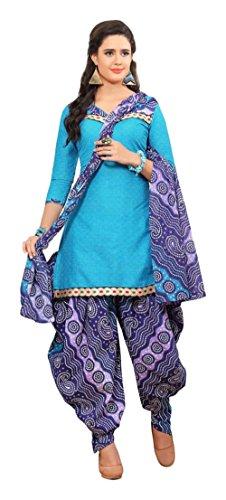 Nellai Sarees Women's Cotton Unstitched Dress Material (Turquoise)