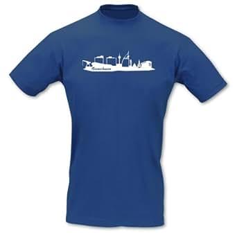 T-Shirt Bremerhaven Skyline royal blau/weiß L Sol's Imperial