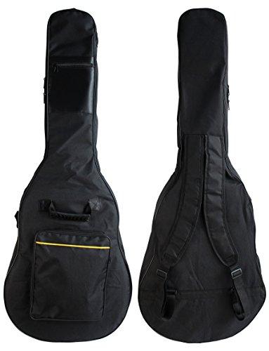 Obere Pick (YMC Wasserdicht Dual Verstellbarer Schultergurt Rucksack mit Zubehör (Gitarre Gigbag 5mm Polsterung Plektrum Plektron Picks, Plektrum-Halter, Gurt Lock, Saitenkurbel)--)