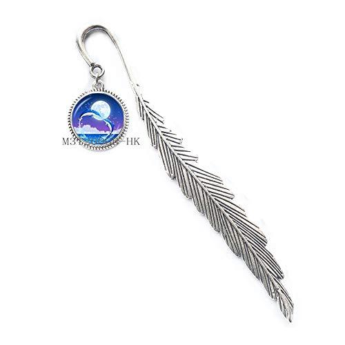 Segnalibro con scritta'Mother and Dolphin', regalo per la festa della mamma, regalo per famiglia, BFF, amica, migliore amica, Dainty Jewelry-MT011
