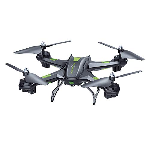 LBLA EDF FPV Drohne mit WiFi Kamera Live Video Headless Mode 2,4 GHz 4 Kanal 6 Achsen Gyro RTF RC Quadcopter kompatibel mit 3D VR Headset, schwarz