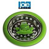 Joie MSC Ribbit Frosch Abflusssieb grün Edelstahl Gummi Küche Korb Badezimmer Verstopfen Abfluss Filter Stöpsel Loch Abfluss