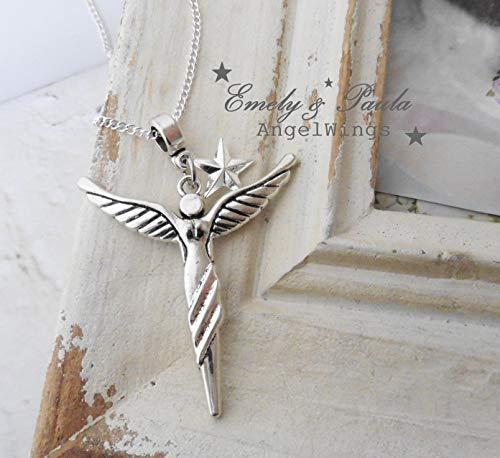 KettenAnhänger Engel Flügel Stern Angel ()