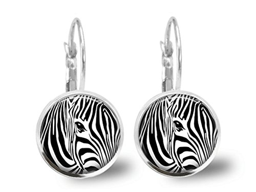 Zebra Ohrringe Fliesen Jewelry Tier Schmuck