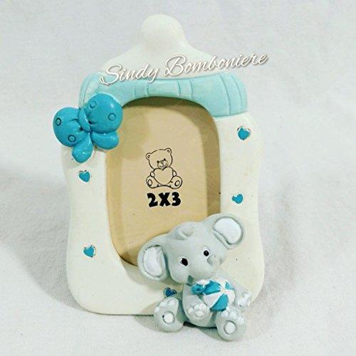 Bomboniera originale per nascita bambino battesimo portafoto biberon elefantino (bomboniera con scatolo no confezione)