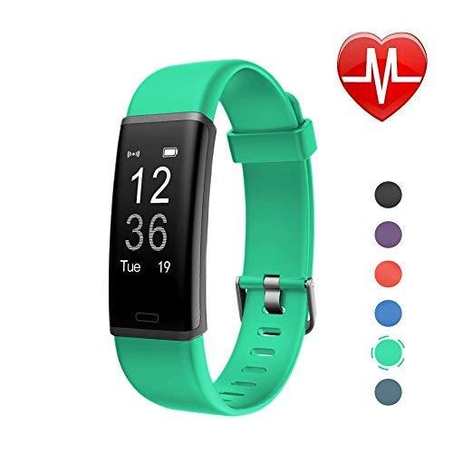 LETSCOM Id130plus Fitness-Herzfrequenz-Monitor, Schrittzähler, Kalorienzähler, Smart-Armband für Kinder, Damen und Herren, Unisex, ID130Plus HR, grün, 17.4 * 8.8 * 1.8cm