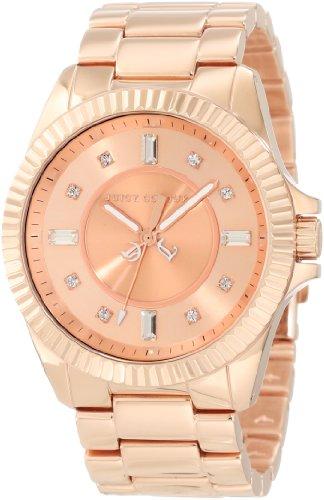 Juicy Couture 1900927 - Reloj para mujeres, correa de acero inoxidable color dorado