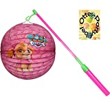 HHO Paw Patrol Girl Laternenset: Lampion + LED Laternenstab incl. Batterien