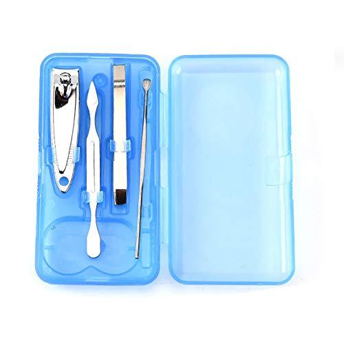 Xiton 4Pcs/Set Mini Nail Clipper Set Pedicure Kit Professional Grooming Kit Pedicure Tools mit Plastic Travel Case (Typ C) - Fußpflege-mini-kit