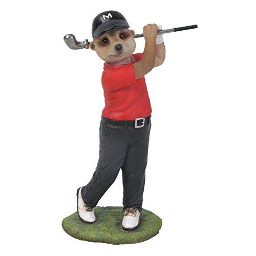Mini Motif suricate golf Rouge Vivid Arts Ltd Par Statue de jardin Taille F