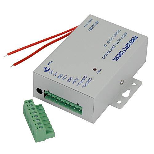 YAVIS Netzteil Tür Zugangskontrolle System Netzschalter 3A 110-240 V AC auf 12 V DC für Alle Arten Access Control System Türschloss mit Zeitverzögerung K80 -