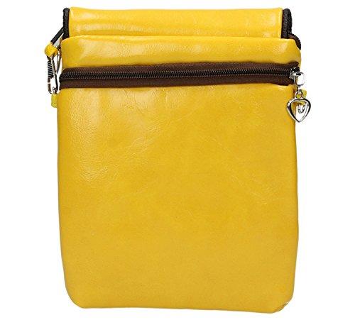 District29 - Borsa a tracolla donna Giallo (giallo)