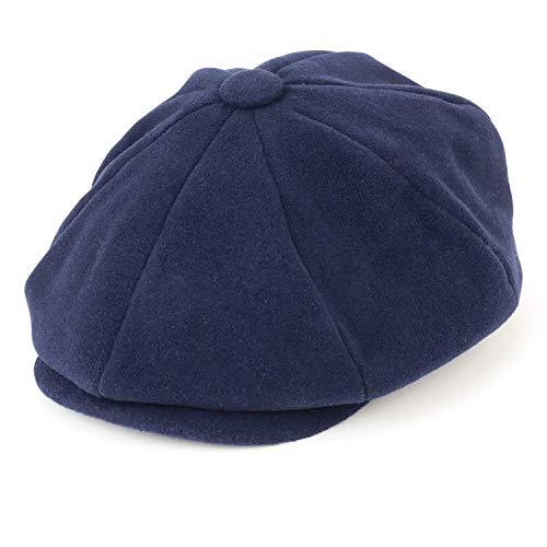 Armycrew Herren Oversize XXL Wolle 8 Quarter Satin gefüttert Winter Newsboy Cap - Blau - XX-Large