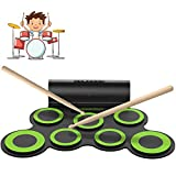 ORASANT Electric Drum Set, Roll Up Electronic Drum Set for Kids, Rechargeable Drum