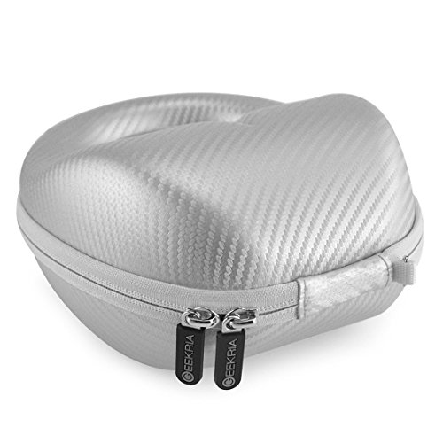 Geekria Ultrashell headphones custodia per Plantronics Backbeat Pro, Pro +, Pro 2, wireless cuffie con isolamento acustico/hard shell Carrying case/Headset protettiva borsa da viaggio (argento)