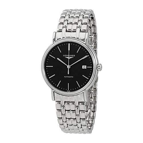 Longines Presencia Automático Negro Dial Mens Reloj l49214526
