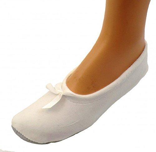 Damen Ballerinas Hausschuhe Ballettschuhe, Farben alle:grau geringelt;Größe:38/39