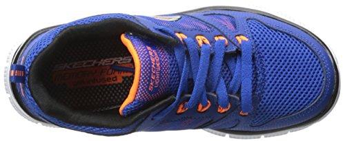 Skechers  Flex Advantage, Chaussures de Running Compétition Garçons Bleu - Blue (Royal Orange)