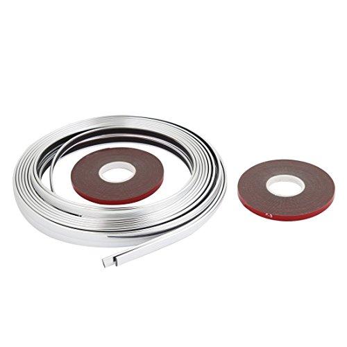 Breite Molding (Autotürkantenschutz Molding Ordnungs-Streifen-Silber-Ton 8mm Breite 8M Länge)