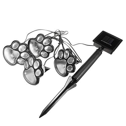 Vvciic LED Solar Power Paw Animal Prints Licht-Garten-Außenleuchte Pfad Landschaft Neu -