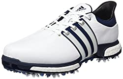 Adidas Tour360 Boost Golf Shoes, Men, Men, Tour360 Boost, Blancoazul Plata, 10