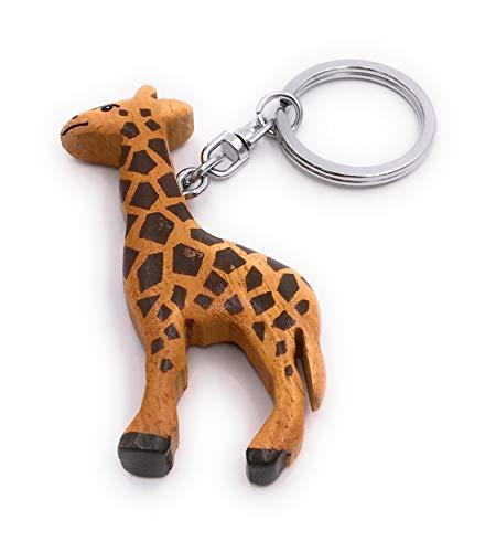 Onwomania Schlüsselanhänger aus Holz Giraffe Säugetier gebraucht kaufen  Wird an jeden Ort in Deutschland