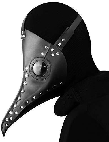 Frauen Teufel Beängstigend Kostüm - Horror Halloween, Steampunk Scharfen Mund Beängstigend Cosplay Zombie Teufel Pest Maskerade Party Kostüm Maske,A107