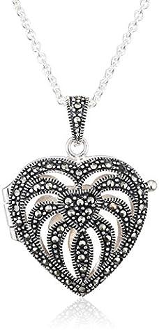 Elements - P2083H/N193 - Collier Femme avec pendentif - Coeur - Argent 925/1000 - 16.67 Gr - Marcassite