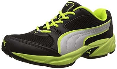 Puma Men's Strike Fashion II Dp Puma Black, Safety Green and Puma Silver Running Shoes - 8 UK/India (42 EU)