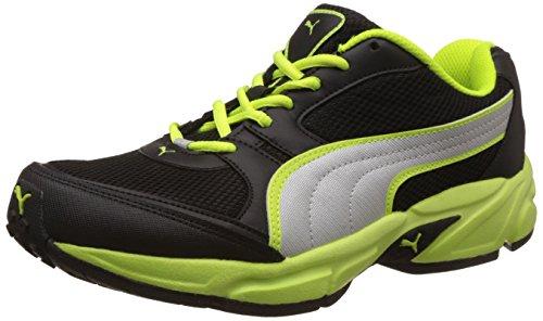 Puma Men's Strike Fashion II Dp Puma Black, Safety Green and Puma Silver Running Shoes - 6 UK/India (39 EU)