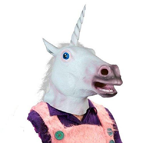 Magische Kostüm - HANO Magische Kostüm-Partei-Halloween Erwachsener Einhorn-Maske