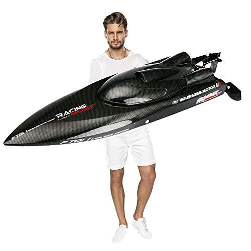 BlackEdragon Feilun FT012 Ferngesteuertes Boot High Speed 2,4GHz RC Rennboot Speedboot 45km/h Racing Boot für Vater mit Kinder Jungen / Mädchen mit Freunden