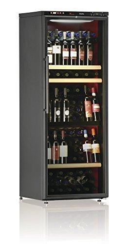 Ip Industrie - Cantina climatizzata con anta in doppio vetro e due scomparti rosssi e bianchi, capacità 108 bottiglie
