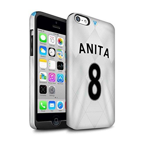 Offiziell Newcastle United FC Hülle / Glanz Harten Stoßfest Case für Apple iPhone 5C / Pack 29pcs Muster / NUFC Trikot Away 15/16 Kollektion Anita