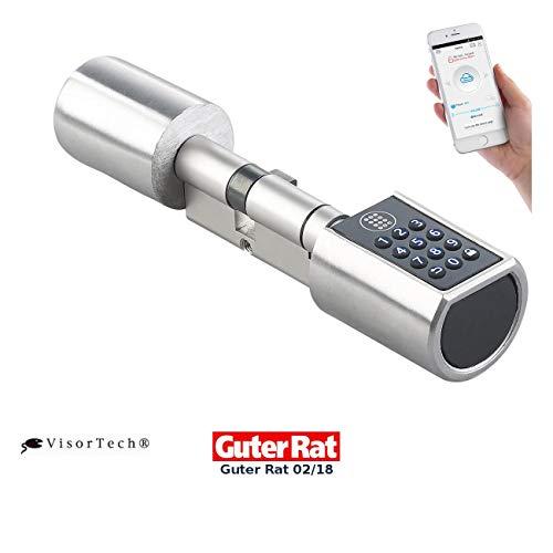 VisorTech Codeschloss: Elektronischer Tür-Schließzylinder mit Zahlencode und Bluetooth (Elektronische Türschließzylinder)
