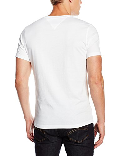 Tommy Jeans Herren T-Shirt Original VN Knit S/S Weiß (CLASSIC WHITE 100)