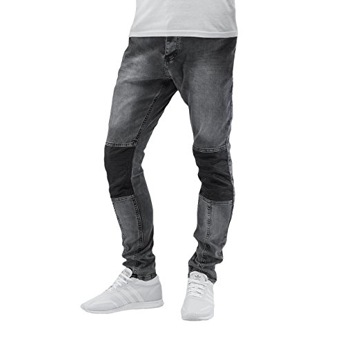 Bangastic Homme Jeans / Jeans Straight Fit PU Gris