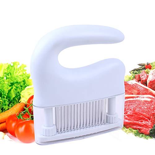 Pnteibo carne di martello, lama a 48 poli carne tenera martello carne tenero ago automatico a rimbalzo acciaio inox per cucina varie carni nero bianco,b